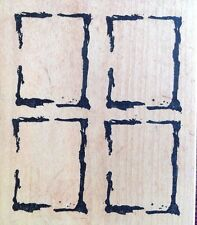 4 Square Background - Art Impressions - Wood Mounted Rubber Stamp