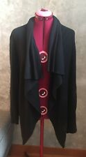 Ladies Theory Vernice Fusion Cashmere Blend Open Drape Cardigan Black Petite