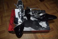 Black/Silver  Capezio Raven BR36 sandal ballroom latin dance shoes - size UK 2