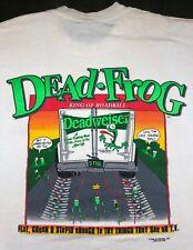 Vintage Mens XL 1995 90s Funny Roadkill Dead Frog Deadweiser Beer Parody T-Shirt