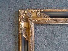 Picture Frame-16x20 -Vintage Antique Ornate Dk Gold & Black Classic-1238