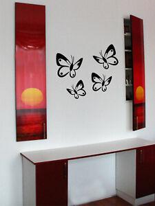 Wandtattoo Schmetterlinge 4 Set Neu