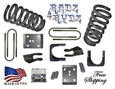 "1980-1996 Ford F100 F150 2WD 3""-5"" Lowering Kit Springs Axle Flip Shock Extender"
