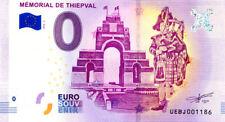 80 THIEPVAL Mémorial 3, 2018, Billet 0 € Souvenir