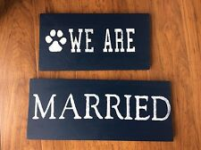 WE ARE Gettng married! Penn State wedding engagement sign prop