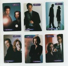 X FILES  - Set of 6 Unused First Edition USA Phonecards - 1997 - TV - NM