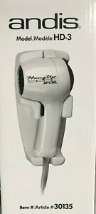Andis - 30135 - Hang-Up HD-3 1600W Hair Dryer - Whyte
