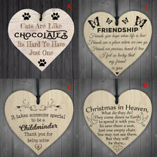 heart shape handmade wooden hangingplaque sign quote gift for christmas decor GT