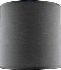 Slate Grey Fabric Drum Shade Large 25cm