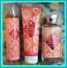 Bath & Body Works PORTOFINO PINK PROSECCO 3 Pc Set Body Cream,Mist,ShowerGel LOT