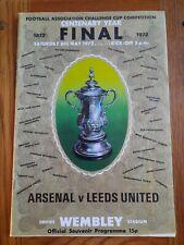 1972 FA CUP FINAL - ARSENAL v LEEDS UNITED - FA CENTENARY YEAR PROGRAMME WEMBLEY