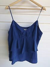 Country Road Women's Blue Ruffle Singlet Top - Size XL