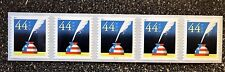 2011USA #4496 44c Patriotic Quill & Inkwell - PNC Coil Strip of 5 Mint NH S1111
