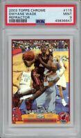 2003 Topps Chrome Dwayne Wade Refractor #115 PSA 9 Rookie Card 🔥 NBA Legend