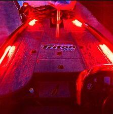 4-1' Pcs Red LED Boat Light Deck Waterproof 12v Courtesy Bow Trailer Pontoon Ft