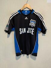 Adidas San Jose Earthquakes Soccer Jersey Size LARGE BOY'S YOUTH Black EUC