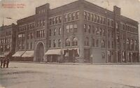 Mankato Minnesota~Saulpaugh Hotel~Commercial College~Bank c1910 Postcard