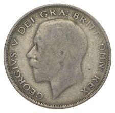 SILVER - WORLD Coin - 1921 Great Britain 1/2 Crown - World Silver Coin *406