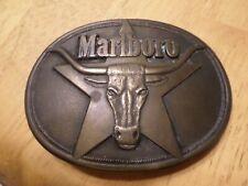 Vintage Marlboro Belt Buckle - Longhorn Steer on a Star - Philip Morris 1987