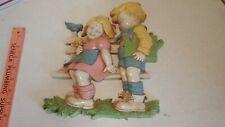 Vintage Dart Homco Usa #7494 Boy & Girl Wall Plaque Wall Art