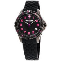 Wenger Squadron Quartz Movement Black Dial Ladies Watch 01.0121.112