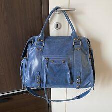 Borsa Tipo Balenciaga Blu Vera Pelle Made In Italy Tracolla Bag Leather Glitter
