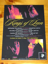 KINGS OF LEON - 2008 Australia Tour - Because Of The Times - Laminated Poster