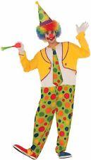 Clown Costume Adult Funny Hoopy The Clown Jumpsuit Polka Dots Men Women Standard