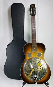 Vintage 1930s Dobro 27 Resonator 6 String Electric Acoustic Guitar Guaranteed