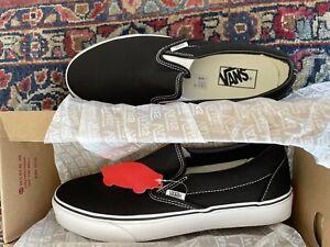 VANS Men's Classic Slip-on Shoes black 10.5 NIB