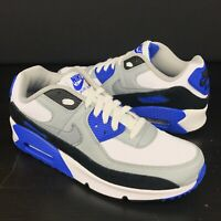 Nike Air Max 90 LTR Big Kids' Shoes White-Particle Grey-Navy CD6864-103 Size 7Y