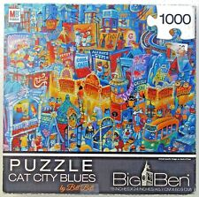 jigsaw puzzle 1000 pc BIG BEN Cat City Blues by Bill Bell