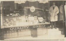 Real photo postcard TREMON Wireless Co shopfront Melbourne Australia, uncommon
