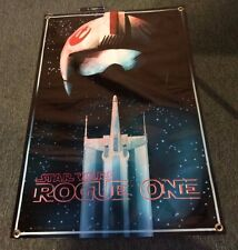 Star wars poster FIGURE MOVIE X WING FIGHTER helmet ROGUE VIDEO GAME banner B15