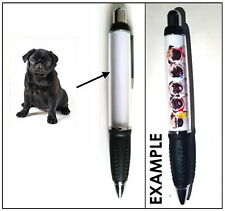 BLACK PUG DOG PEN STATIONERY - PET ANIMAL LOVER BREED PHOTO GIFT