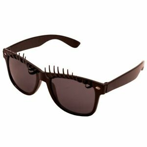 Party Glasses with Eyelashes Black