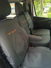 Renault Trafic 2014 on Sport Crew Van . Tailored Seat Covers + Free Embroidery.