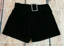 Weissman Dance Costume Black Velour Shorts with Crystal Belt Youth Girls LC