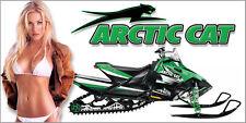 New listing Arctic Cat, Snow Pro, Zr, Xf, Thundercat, Wall Garage Banner - Snow Chic #6