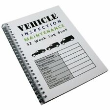 A5 52 Week Commercial Vehicle Inspection Maintenance Check Record Log Book Diary