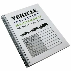 A5 52 WEEK VEHICLE INSPECTION MAINTENANCE RECORD BOOK COMMERCIAL SAFETY CHECK