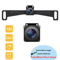 FHD Backup Camera Waterproof License Plate Night Vision Car Reverse Rear View