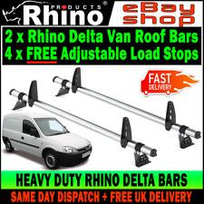 2x Rhino Delta Van Roof Rack Ladder Bar Free Load Stops Vauxhall Combo 2001-2012