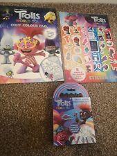 Trolls 2 World Tour Sticker Fun Colouring Set 3 Bundle Pack