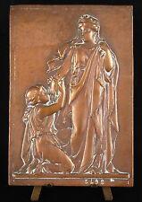 Medaille plaque époque XIX ème siècle scène à l'antique 12 cm
