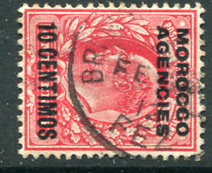 MOROCCO AGENCIES (25726): GB used abroad FEZ postmark/cancel