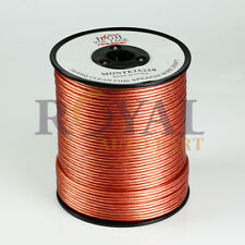 250ft Clear Transparent 16 Gauge AWG Speaker Wire Cable