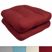 Indoor-Outdoor Reversible Patio Seat Cushion Pad 2, 4, 6, or 12 Pack