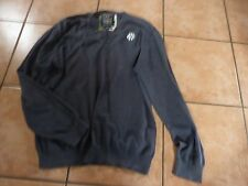 """MCNEAL CLOTHING COMPANY US XXL 46"""" GREY COTTON SLIM FIT ACADEMY STYLE JUMPER"""