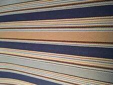 Longaberger Set of 2 Fabric Placemats - Cabana Blue Stripe/ Bright Blue